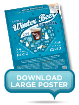 Large Winter Beer Festival Poster