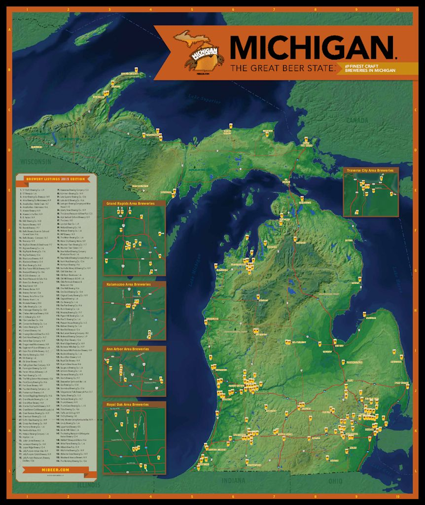 2015 beer map the mash for Michigan craft beer festival